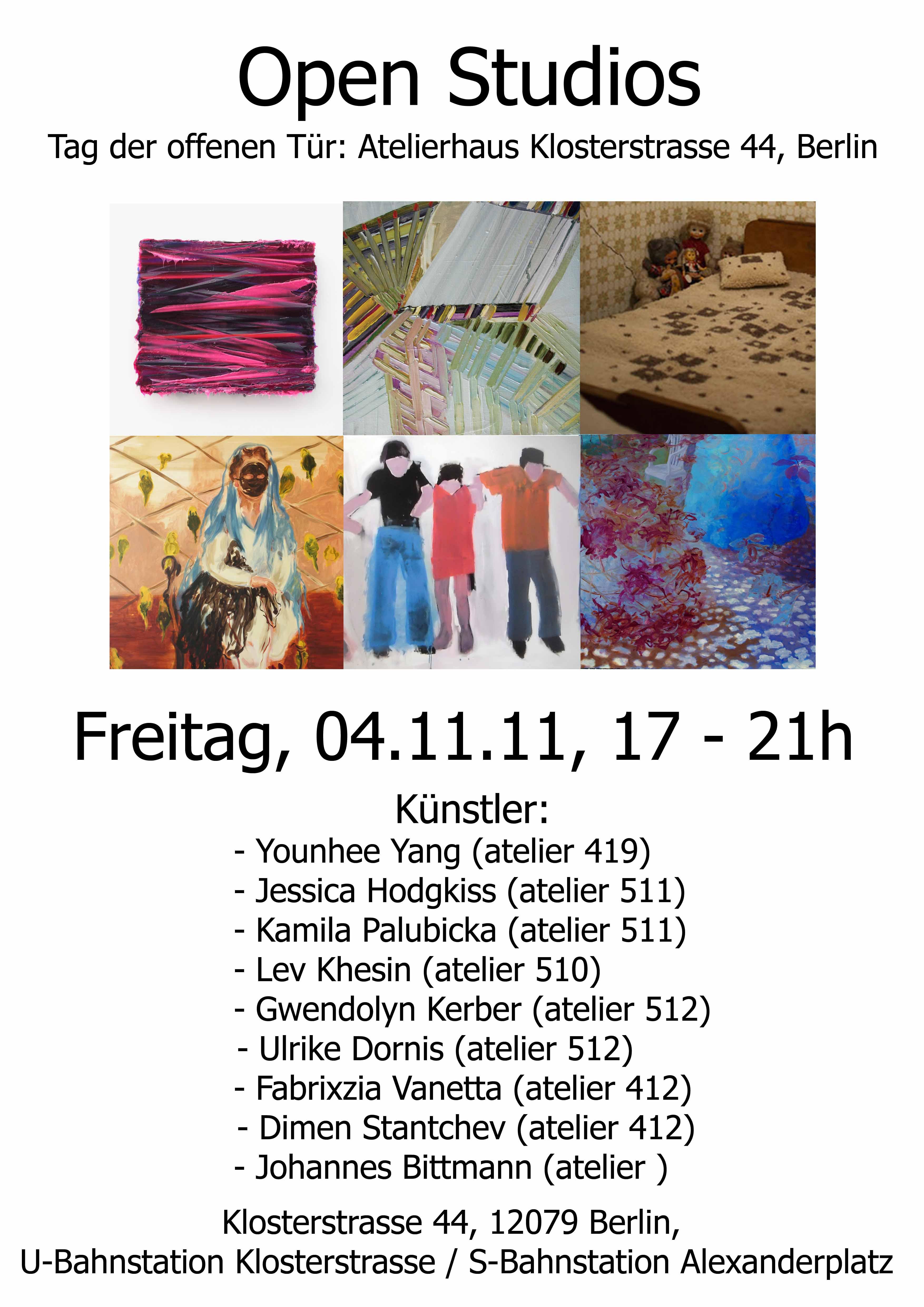 Einladung: Open Studio 2011
